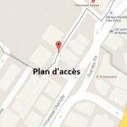 Plan d'accès du cabinet dentaire - place de la crémaillère - Beausoleil