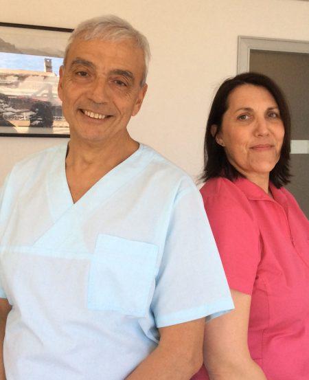 Dr Fino dentiste à Beausoleil et Mylène assistante dentaire diplômée